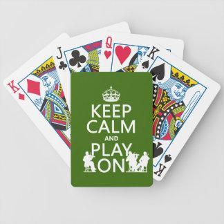 Jeu De Cartes Gardez le calme et le jeu sur (les instruments
