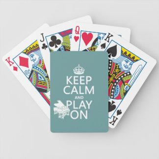 Jeu De Cartes Gardez le calme et le jeu sur (piano) (toute