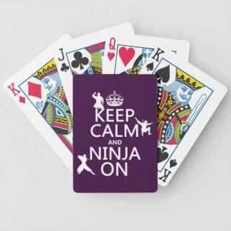 Jeu De Cartes Gardez le calme et le Ninja sur (dans toute