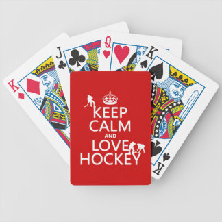 Jeu De Cartes Gardez le calme et l'hockey dessus