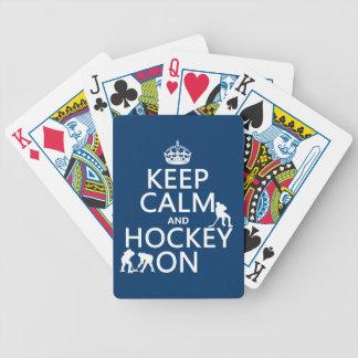 Jeu De Cartes Gardez le calme et l'hockey sur (dans toute
