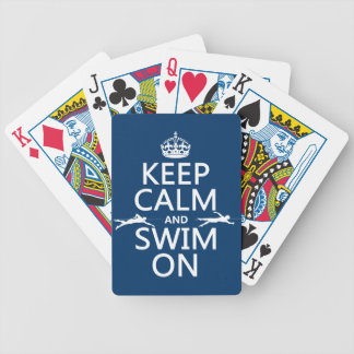 Jeu De Cartes Gardez le calme et nagez sur (dans toute couleur)