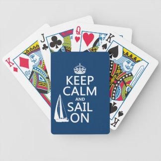 Jeu De Cartes Gardez le calme et naviguez dessus - toutes les