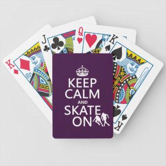 Jeu De Cartes Gardez le calme et patinez sur (les rollerskaters)