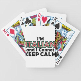 Jeu De Cartes Gardez les Italiens calmes