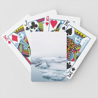 Jeu De Cartes Glaciers de l'Islande - blanc