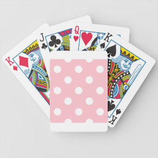 Jeu De Cartes Grand pois - blanc sur le rose