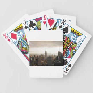Jeu De Cartes Horizon de New York - crépuscule - gris