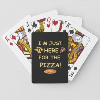 Jeu De Cartes Je suis juste ici pour les cartes de jeu de pizza