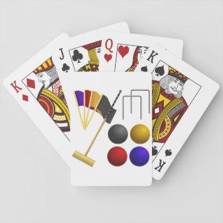 Jeu De Cartes Jeu des cartes de jeu de croquet