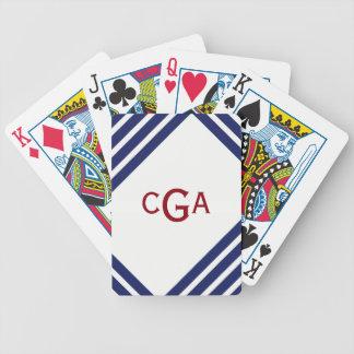 Jeu De Cartes La marine barre les cartes de jeu personnalisées