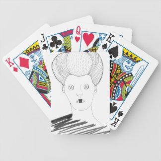 Jeu De Cartes La reine de bouton