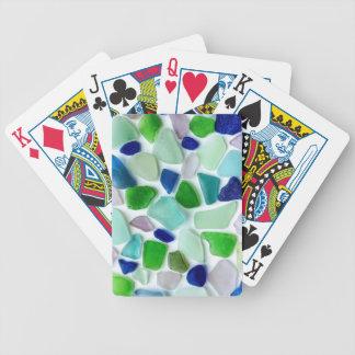 Jeu De Cartes Le cool colore les cartes de jeu en verre de mer
