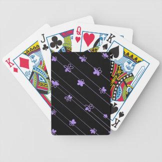 Jeu De Cartes Le pourpre fleurit des cartes de jeu de tisonnier