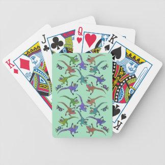 Jeu De Cartes Lézards sautant des cartes de jeu