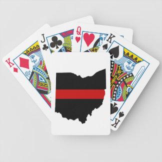 Jeu De Cartes Ligne rouge mince cartes de jeu