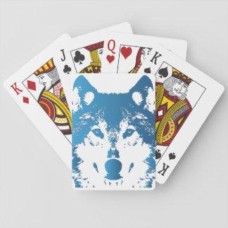Jeu De Cartes Loup de bleu glacier d'illustration