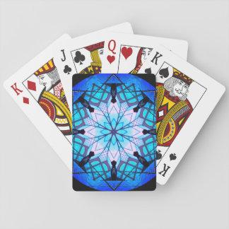 Jeu De Cartes Mandala bleu de flocon de neige