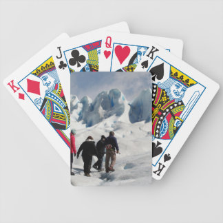 Jeu De Cartes Marchant sur le glacier de Perito Moreno,