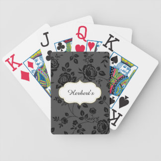 Jeu De Cartes Modèle-CONCEPTION (c) Family-Name-Gray_Floral-
