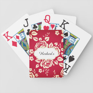 Jeu De Cartes Modèle-CONCEPTION (c) Family-Name_Vintage_Red-
