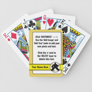 Jeu De Cartes Modèle personnalisable de paquet de cartes de