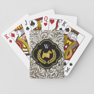 Jeu De Cartes Monogramme de gain de main de Scottie royal