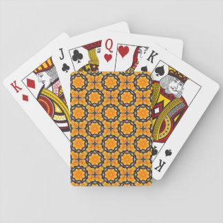 Jeu De Cartes Motif de fleur orange