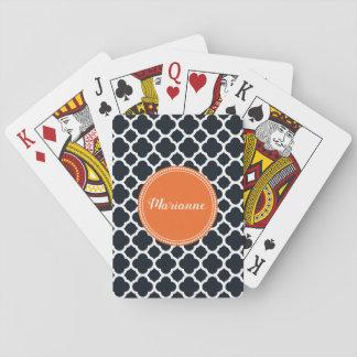 Jeu De Cartes Noir, blanc et cartes de jeu personnalisées par
