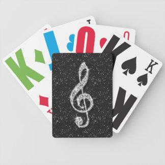 Jeu De Cartes Note scintillante étincelante imprimée de musique
