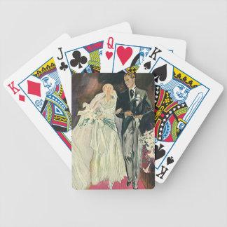 Jeu De Cartes Nouveaux mariés vintages de mariage, jeune mariée