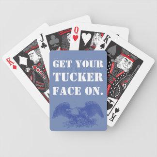 Jeu De Cartes Obtenez votre Tucker font face dessus.  Édition