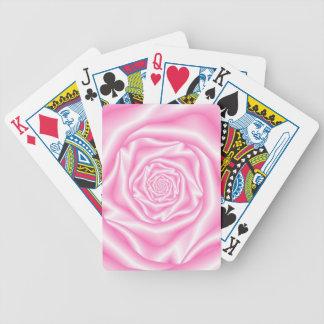 Jeu De Cartes Pâle - la spirale rose s'est levée des cartes de