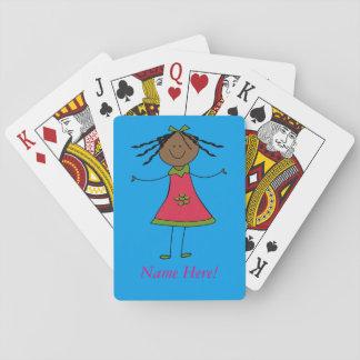 Jeu De Cartes Personnalisez l'amusement Girly fait sur commande
