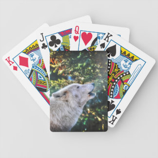 Jeu De Cartes Photo arctique de faune de loup gris d'hurlement