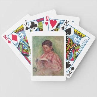 Jeu De Cartes Pierre une lecture de femme de Renoir  