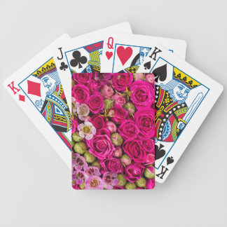 Jeu De Cartes Plate-forme de fleur des cartes assez rose