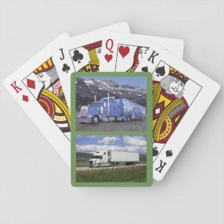 Jeu De Cartes Plate-forme des cartes avec deux 18 camions de