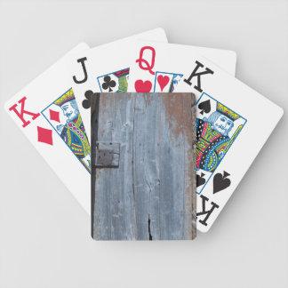 Jeu De Cartes Porte en bois usée et rouillée
