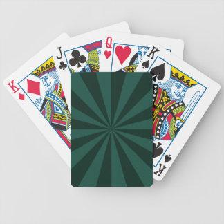 Jeu De Cartes Rayons de soleil dans les cartes de jeu vertes