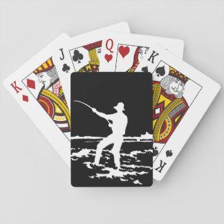 Jeu De Cartes Rétro silhouette de pêcheur
