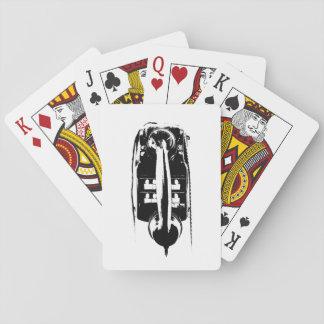 Jeu De Cartes Rétro téléphone noir et blanc - cartes de jeu