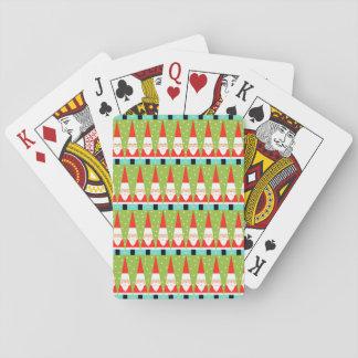 Jeu De Cartes Rétros cartes de jeu géométriques de Père Noël