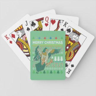 Jeu De Cartes Série laide de faune de chandail de Noël de canard