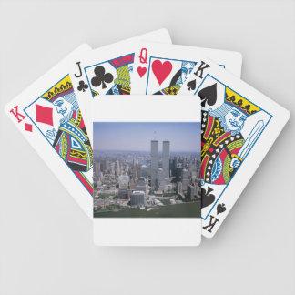Jeu De Cartes Tours jumelles d'horizon de New York City
