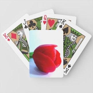 Jeu De Cartes Tulipe rouge