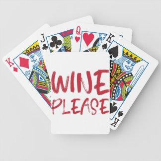 Jeu De Cartes vin svp (en rouge)