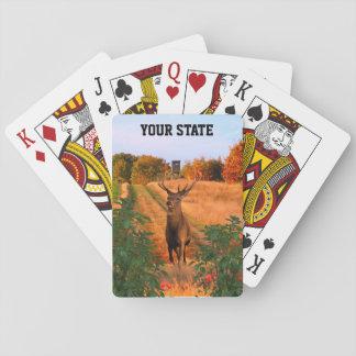 Jeu De Cartes Votre chasse de cerfs communs de mâle d'état