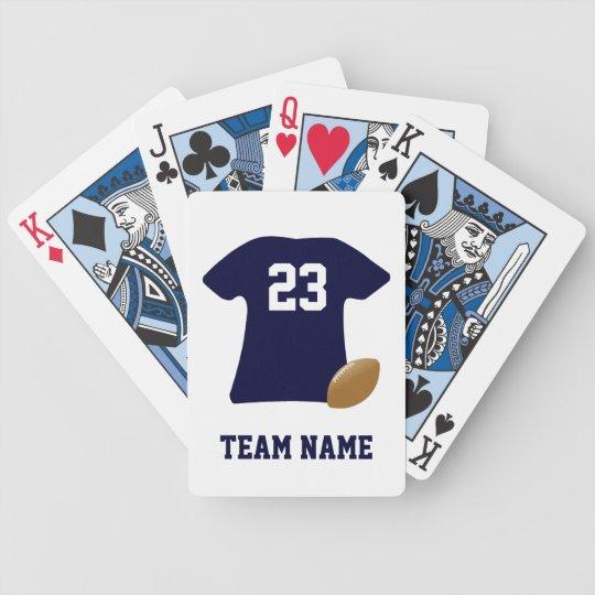 Jeu De Cartes Votre chemise du football avec des cartes de jeu