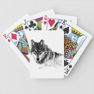 Jeu De Cartes Yeux inspirés blancs noirs de loup